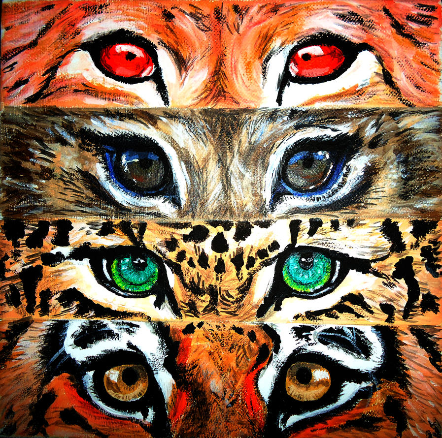 Tiger Eyes Canvas Painting