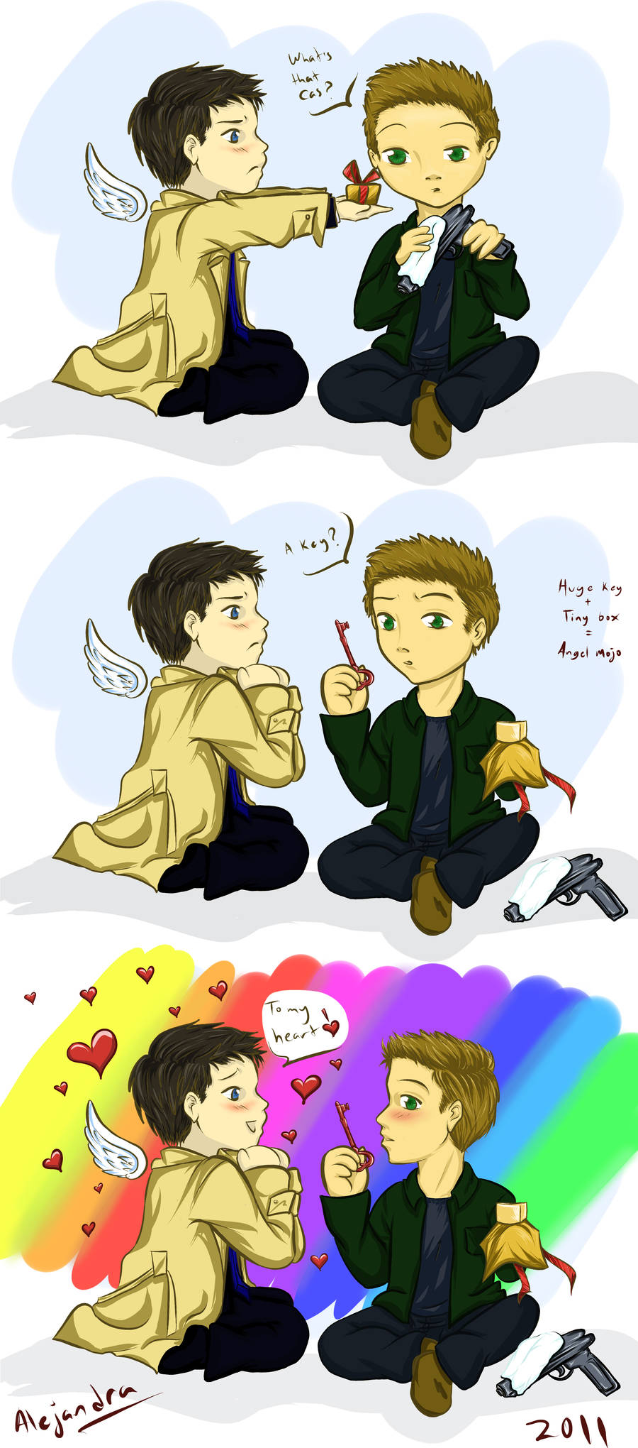 Castiel's gift by usarechan