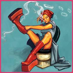 Rosie's smoke break by artqueen23