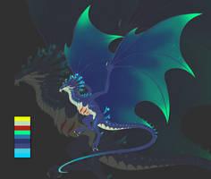 Aurora Wyvern -SOLD- by LordPuffballAdopts