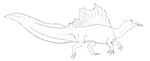 Spino Lineart Template P2U -OPEN- by LordPuffballAdopts