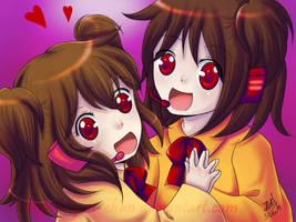 UTAU Rakune Kiyo and Miyo by yesi-chan