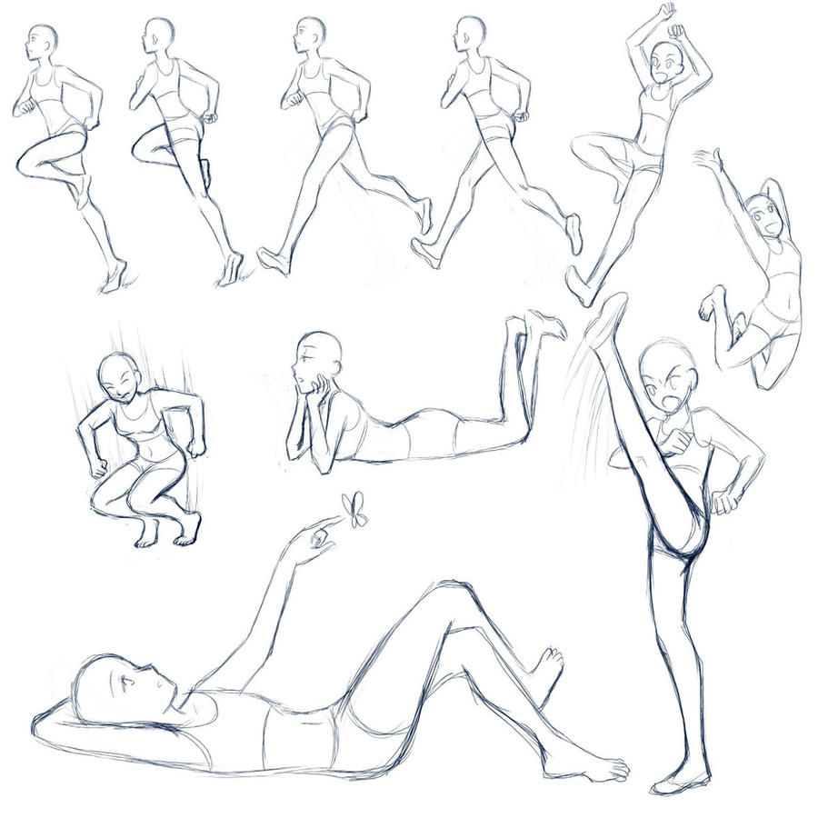 Line Drawing Female Body : Poses by yesi chan on deviantart