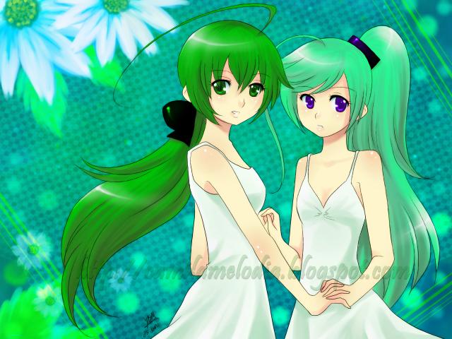 Green Green Midori and Tei by yesi-chan