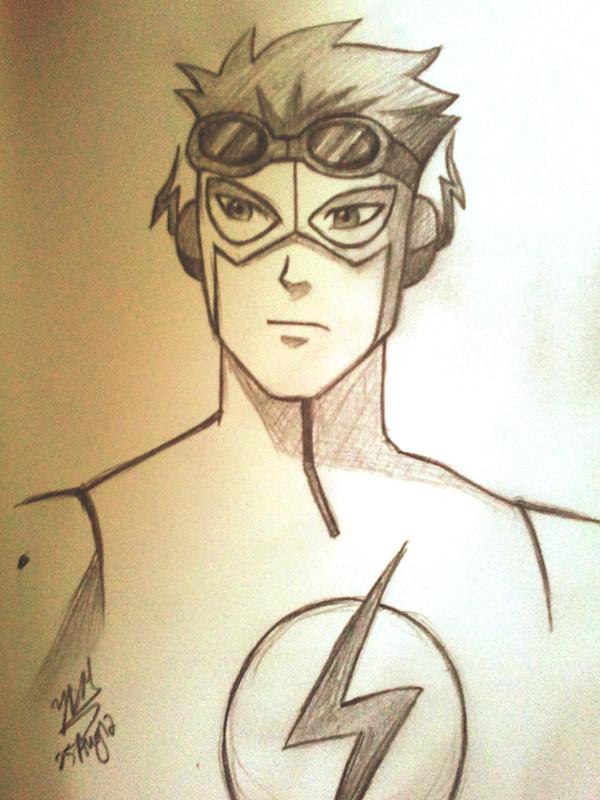 Kid Flash Sketch By Yesi Chan On DeviantArt