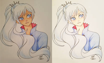 Weiss in Markers by yesi-chan