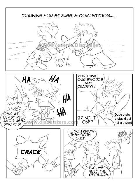 Kingdom Hearts: Struggle by yesi-chan