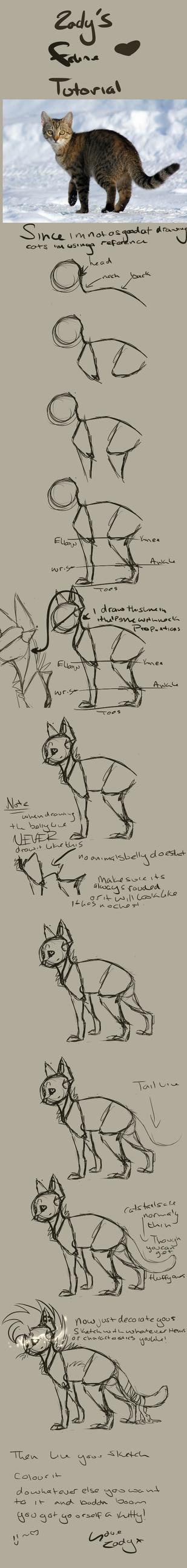 feline tutorial by Z-A-D-Y