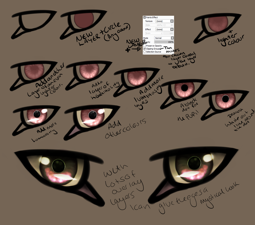 eye step by step by Z-A-D-Y