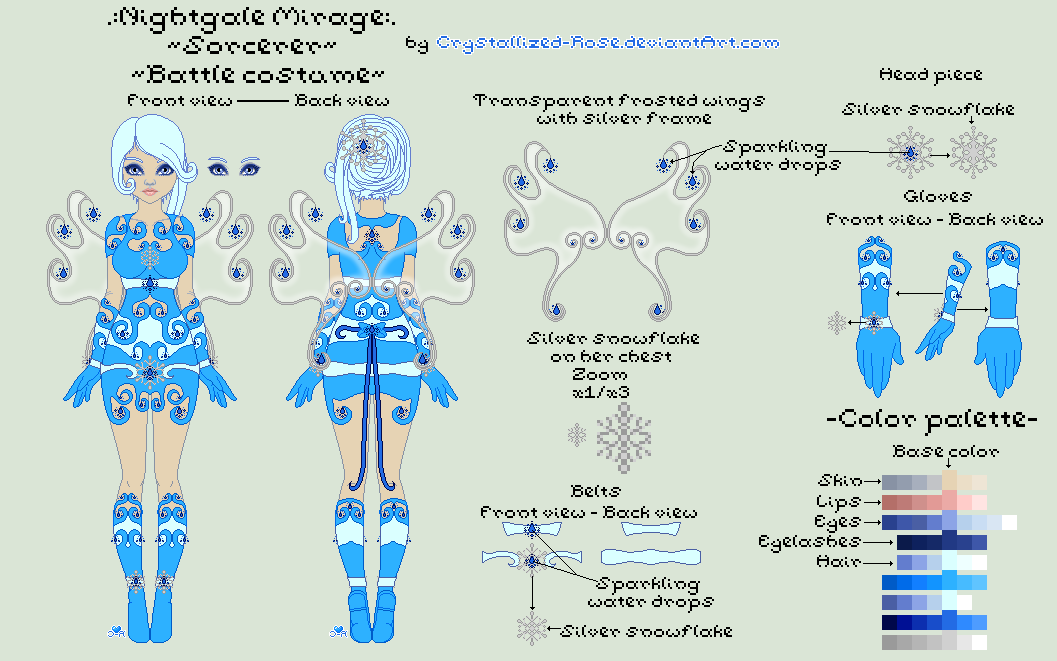 .:Nightgale Mirage:. ~Reference~ by Crystallized-Rose