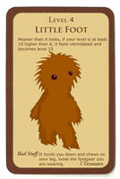 Munchkin monster card 'Little Foot' by Lordoftheslugs