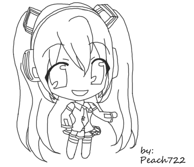 hatsune miku chibi coloring pages - photo#10