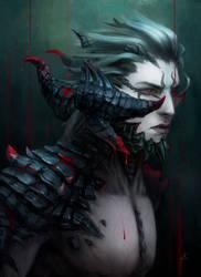 Commission - detailed portrait 18 by AizelKon