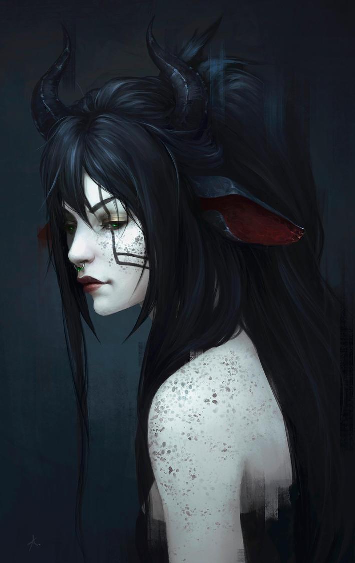 Commission - detailed portrait 29 by AizelKon