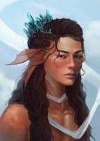 Commission - detailed portrait 42 by AizelKon