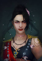 Commission - detailed portrait 43 by AizelKon