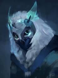 Snow Owl by AizelKon