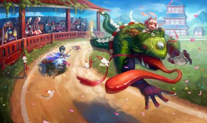 Kyoto Drift! Onmyoji fan art contest by AizelKon