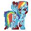 Ponymon: Creepy Rainbow Dash by Banditmax201