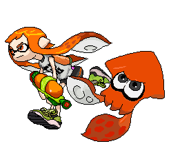 Splatoon Inkling Girl And Squid By Banditmax201 On Deviantart