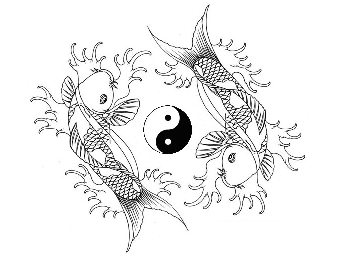 Koi fish yin yang dance by houksta on deviantart for Yin and yang koi fish