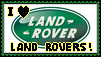 I Love Land Rovers Stamp by GNGTNT105