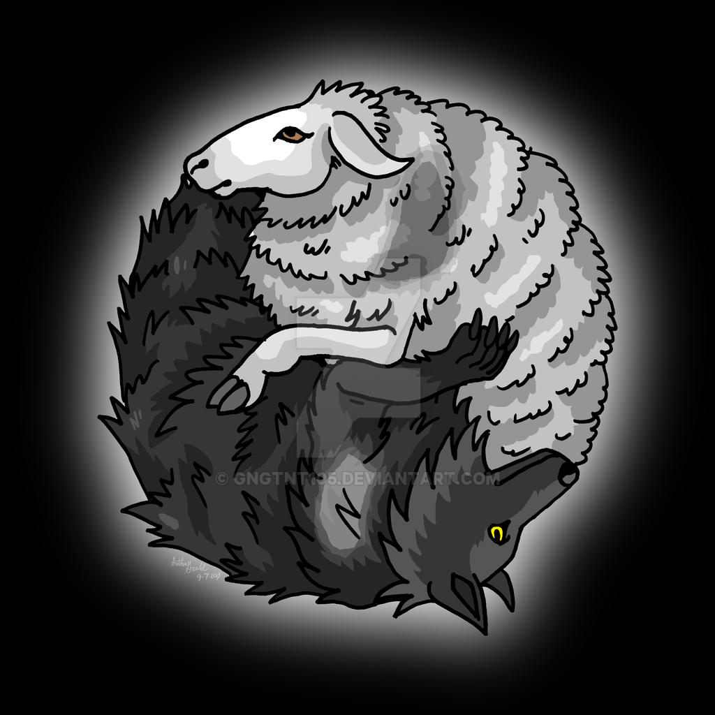 Wolf Sheep Yin Yang by GNGTNT105 on DeviantArt