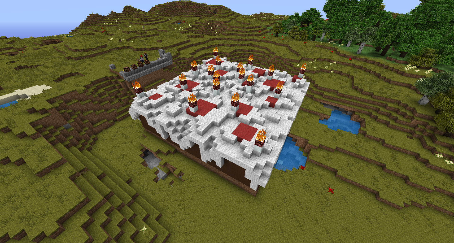 Minecraft Cake With Candles Game Image