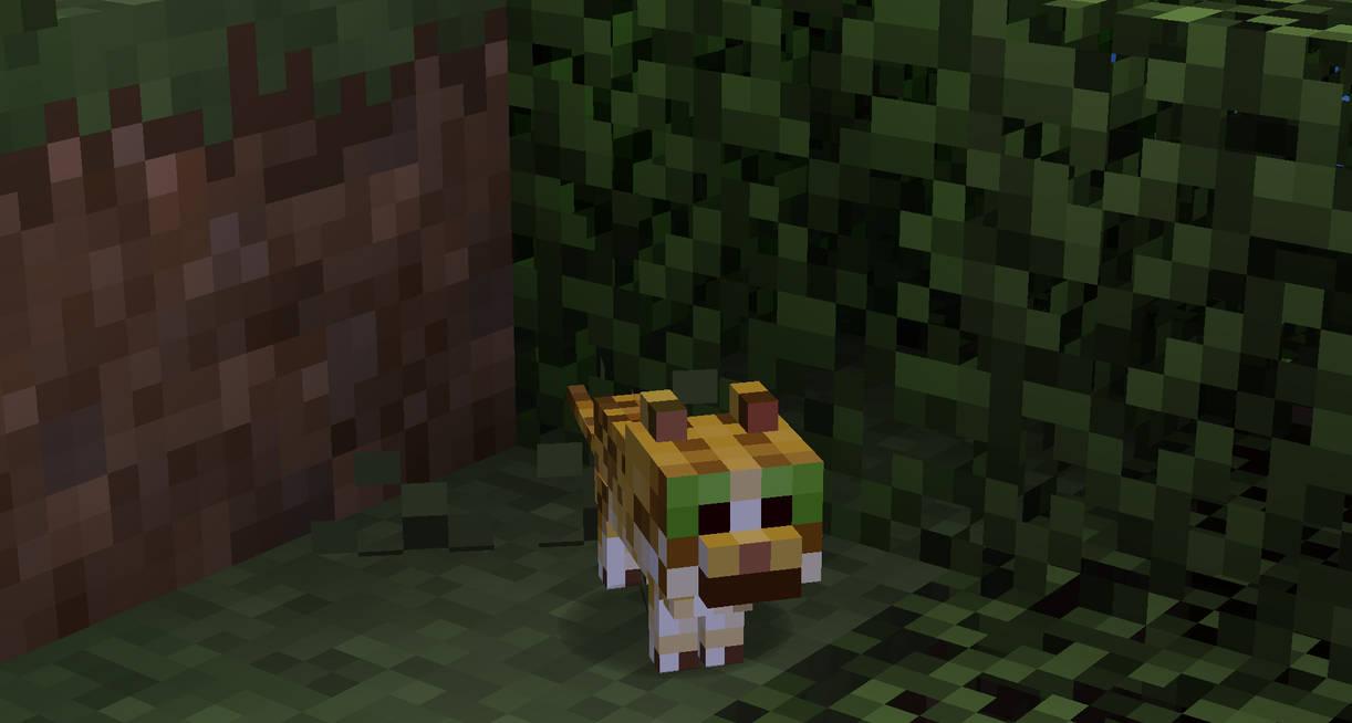 Minecraft Natural Baby Ocelot By Pormcorn On Deviantart