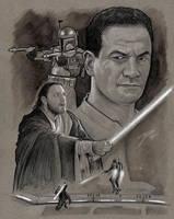 Obi Wan vs Jango by GabeFarber