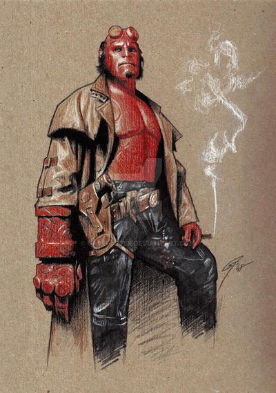 Hellboy by GabeFarber