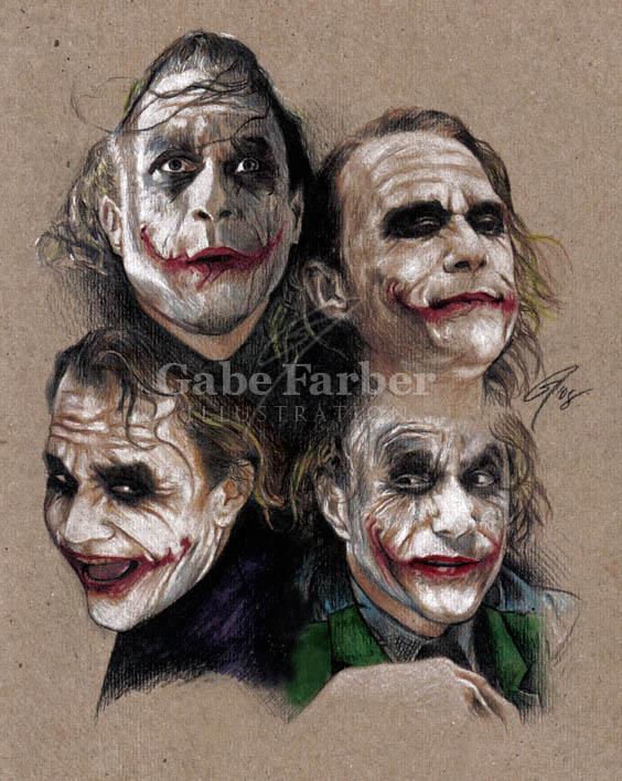 Joker expressions by GabeFarber