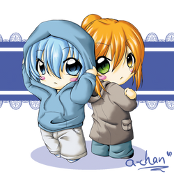 K-A-E / Ten Chibis by uke-a-chan