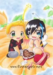 Summsebienchen of Valentine by uke-a-chan
