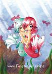 Chibi Mermaids by uke-a-chan