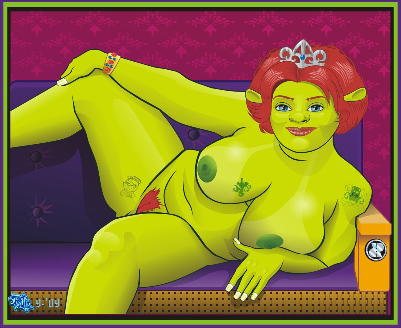 Fiona with shrek people naked nude beauty pussy