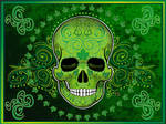 Day of the dead green poster