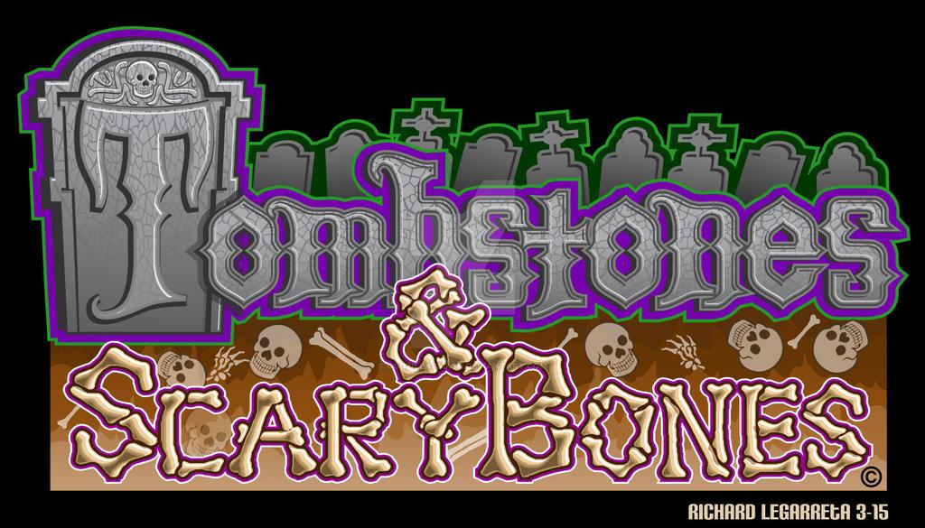 Tombstones and Scary Bones logo by godzillasmash