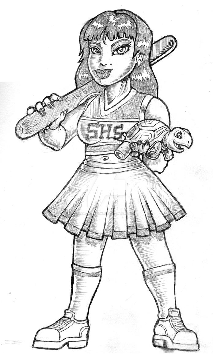Ruby cheerleader smllr by godzillasmash