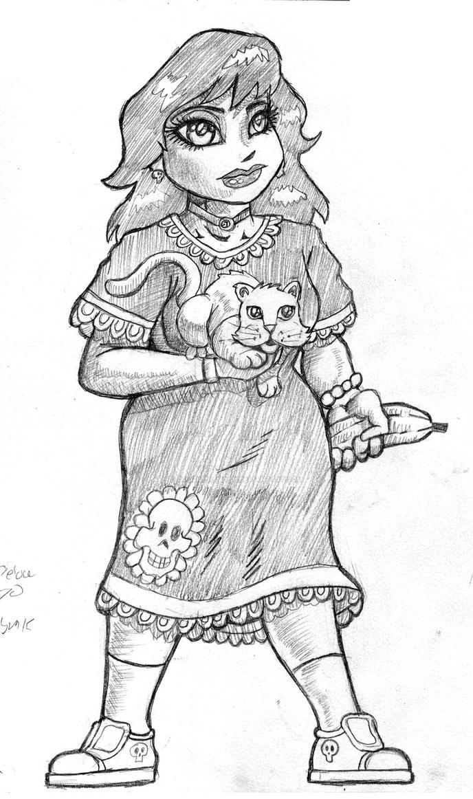 Beatrice pencil sketch smllr by godzillasmash