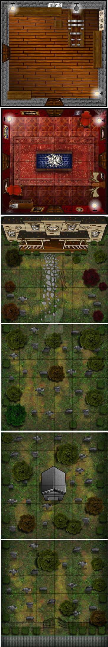 Tombstones and ScaryBones by godzillasmash