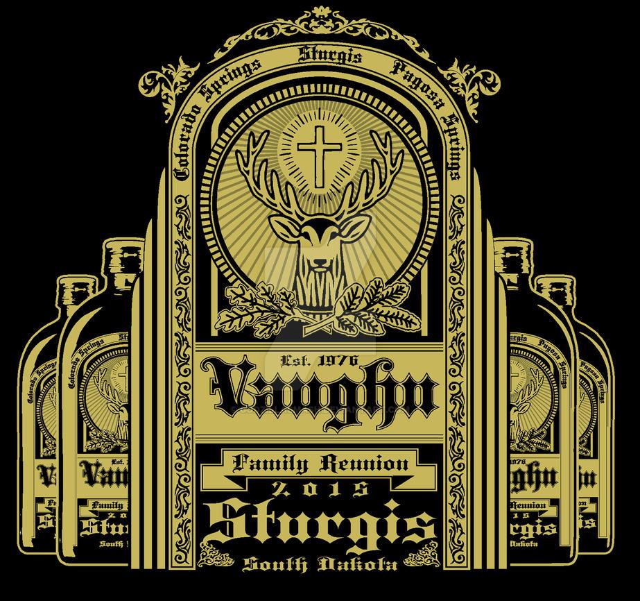 Family Vaughn reunion t-shirt design by godzillasmash