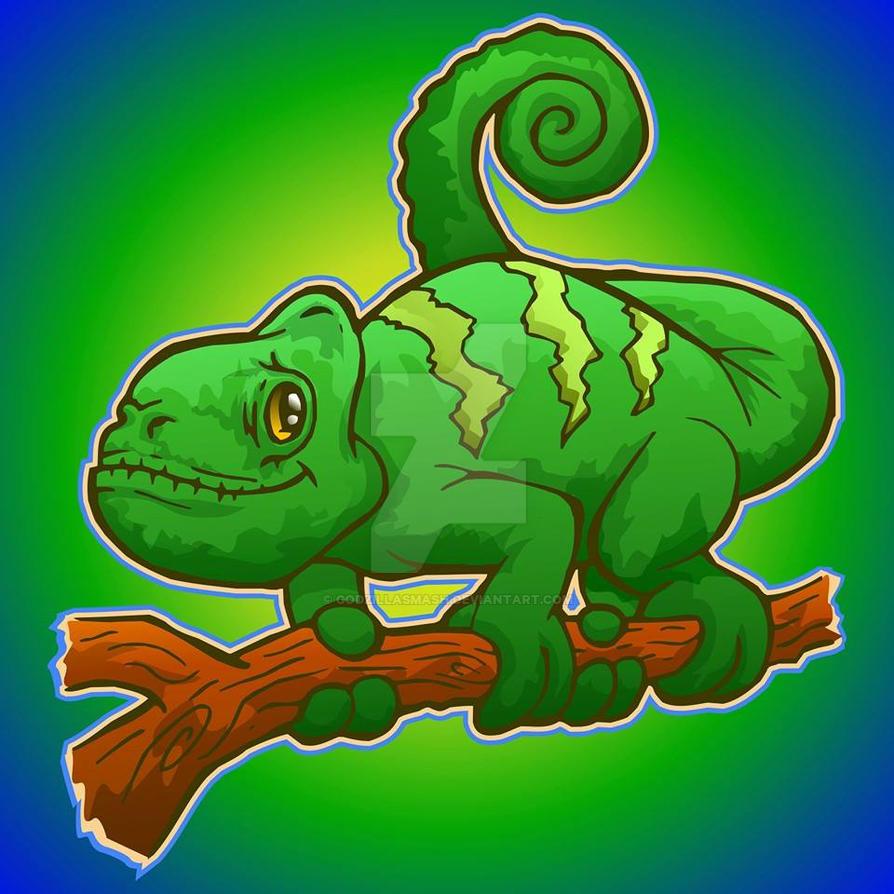 Kooky Chameleon by godzillasmash