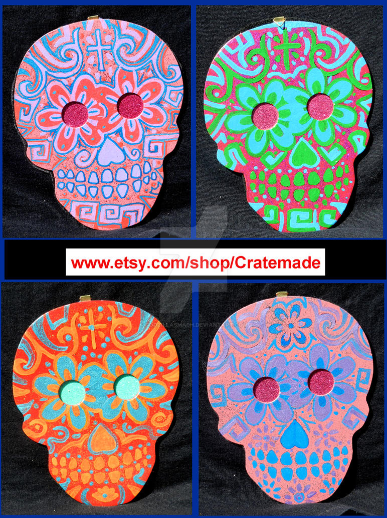 Skull wooden art wall decorations preview set 3 by godzillasmash