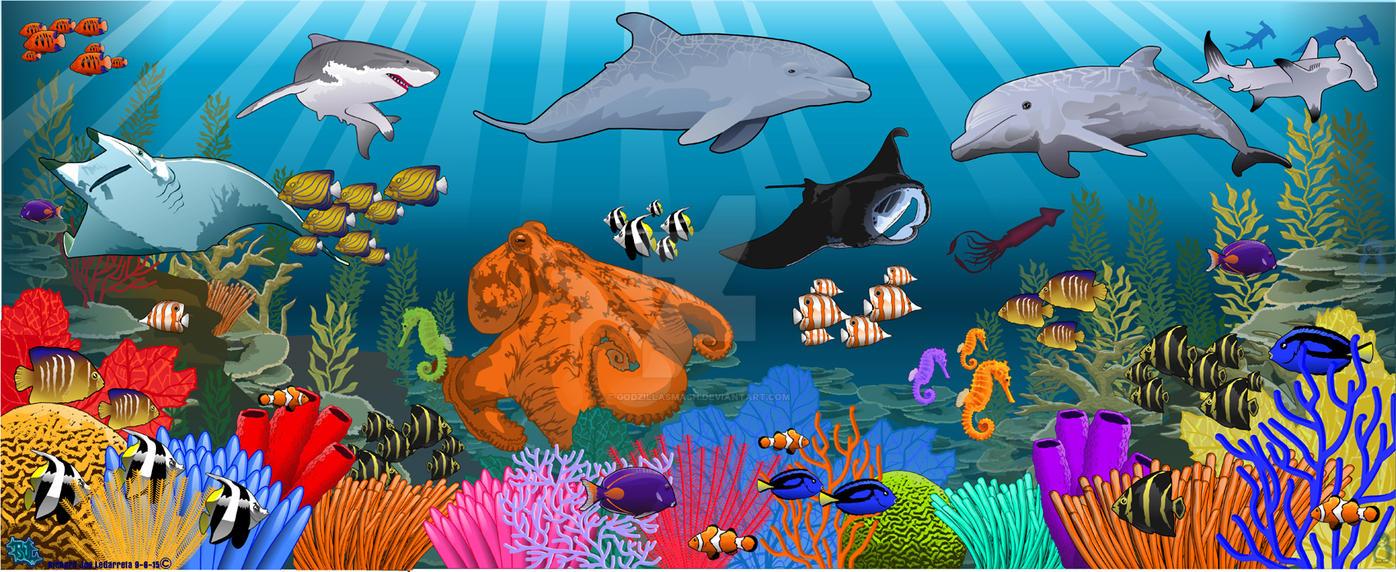 Coral reef piece by godzillasmash
