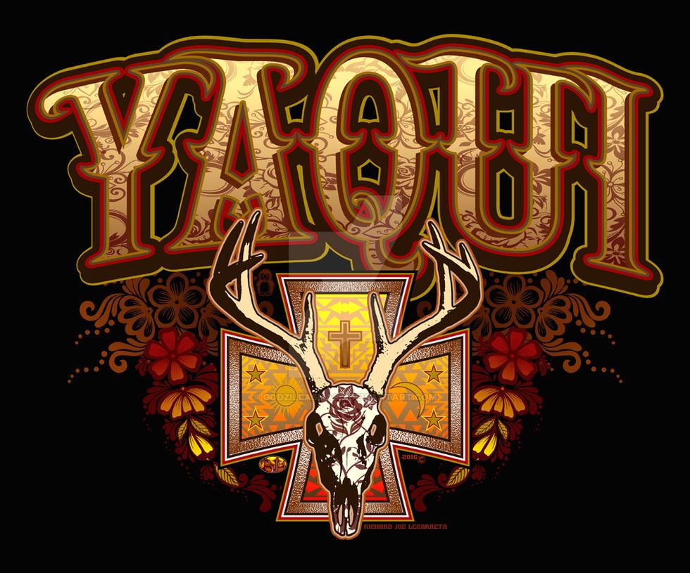 Yaqui Deer Skull Design by godzillasmash