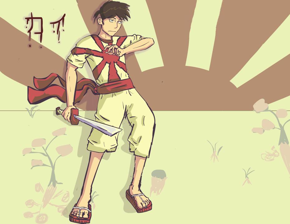 Kai, the Grumpy, Anti-Social Kenshi by KnobleKnives