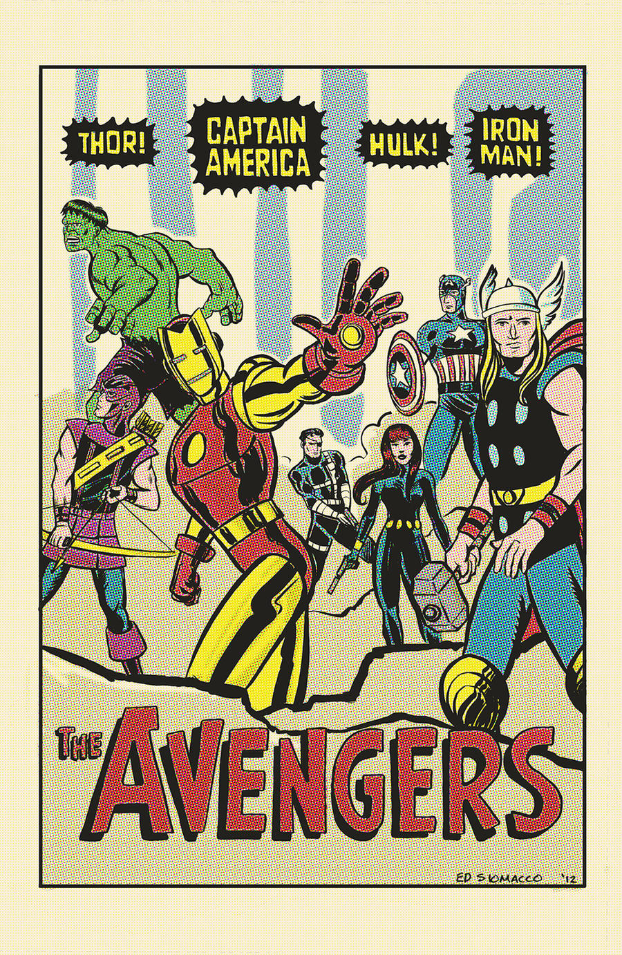 ... The Avengers Jack Kirby Tribute Poster by edsiomacco