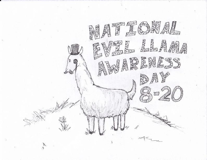 National Evil Llama Awareness by ManBearPig08