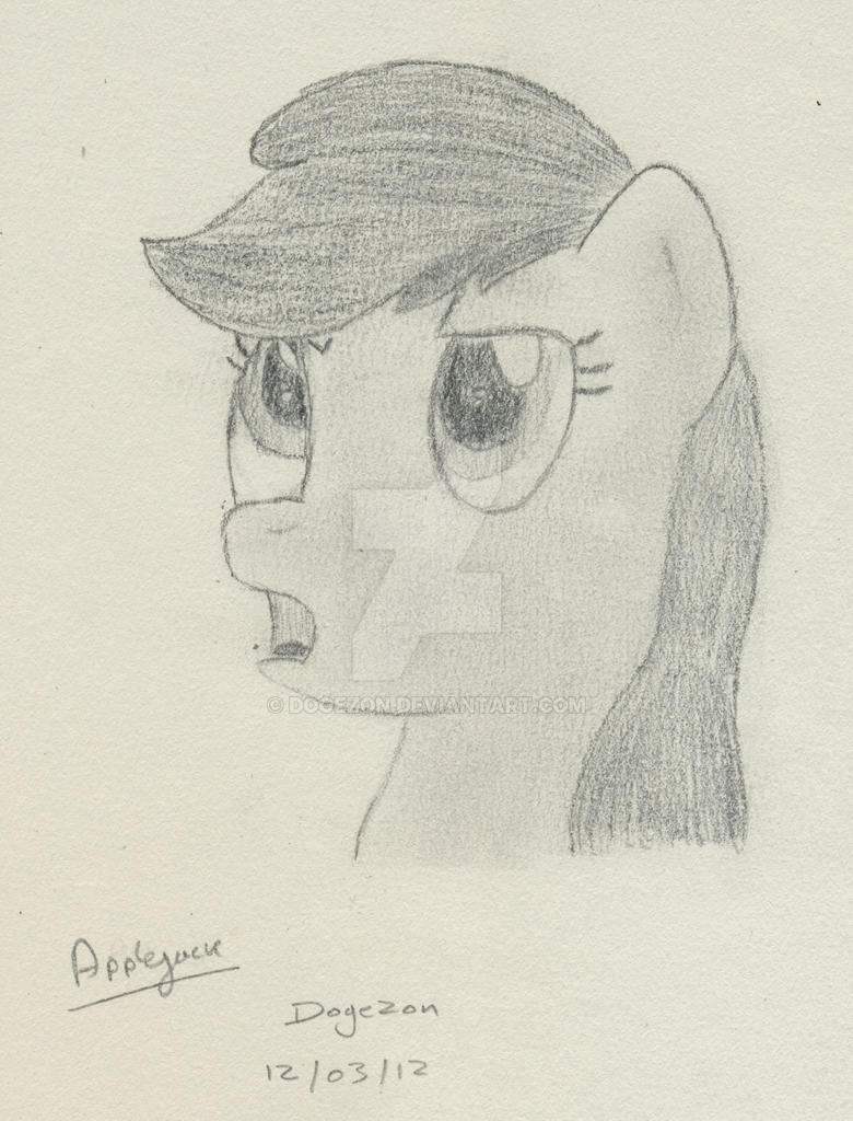 Applejack Portrait by Dogezon